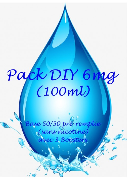 PACK DIY FACILE VAPMISTY 50/50 6mg